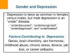gender and depression
