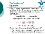 the sentences equations1