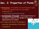 sec 2 properties of fluids