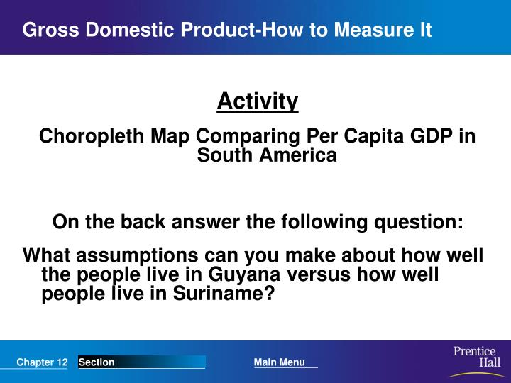 Gross Domestic Product-How to Measure It