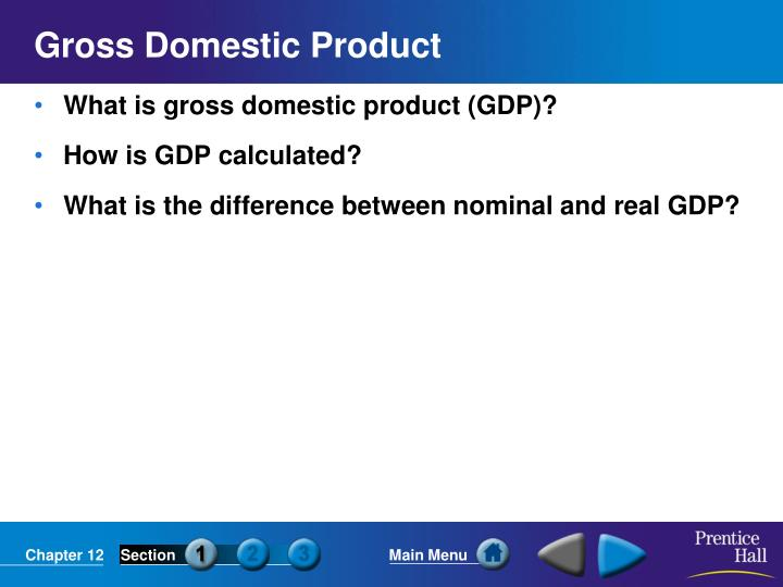 gross domestic product n.