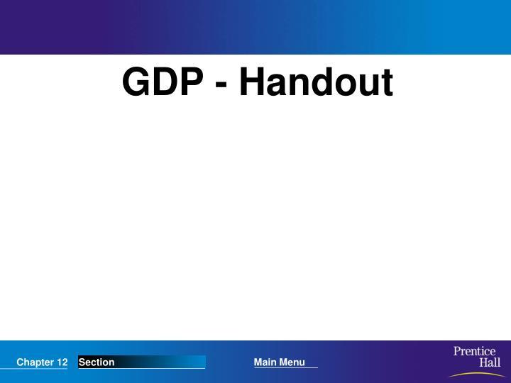 GDP - Handout