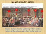 ideas spread in salons