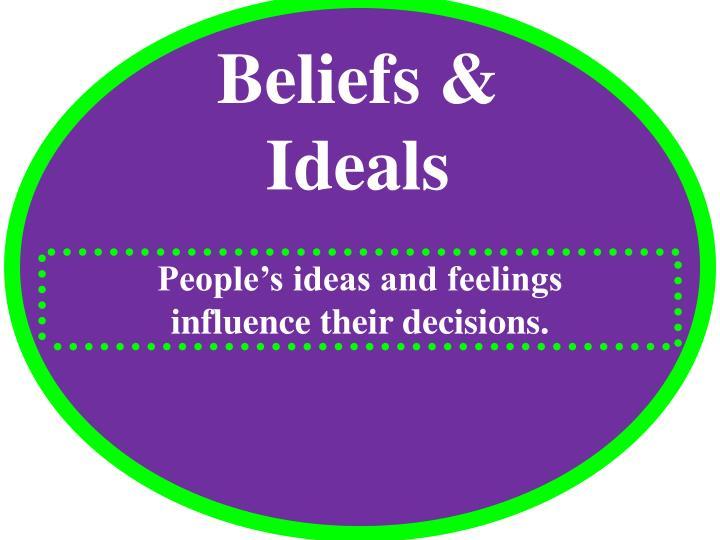 Beliefs & Ideals