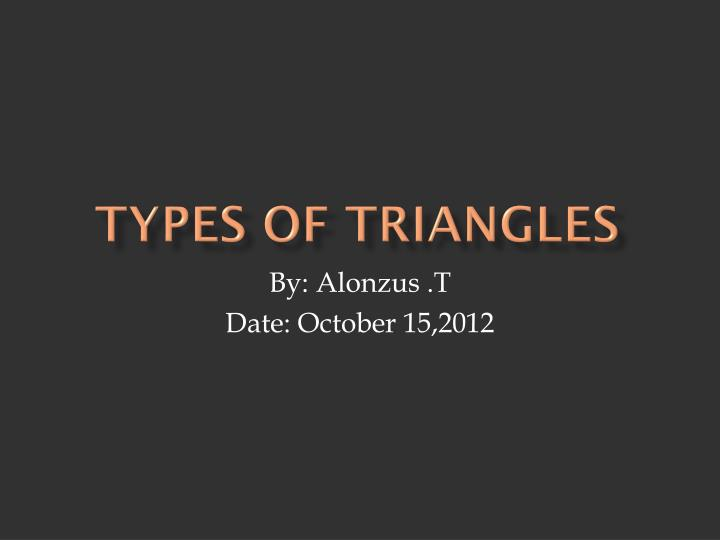 types of triangles n.