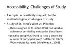 accessibility challenges of study