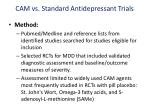 cam vs standard antidepressant trials1