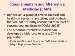 complementary and alternative medicine cam