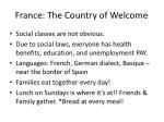 france the country of welcome
