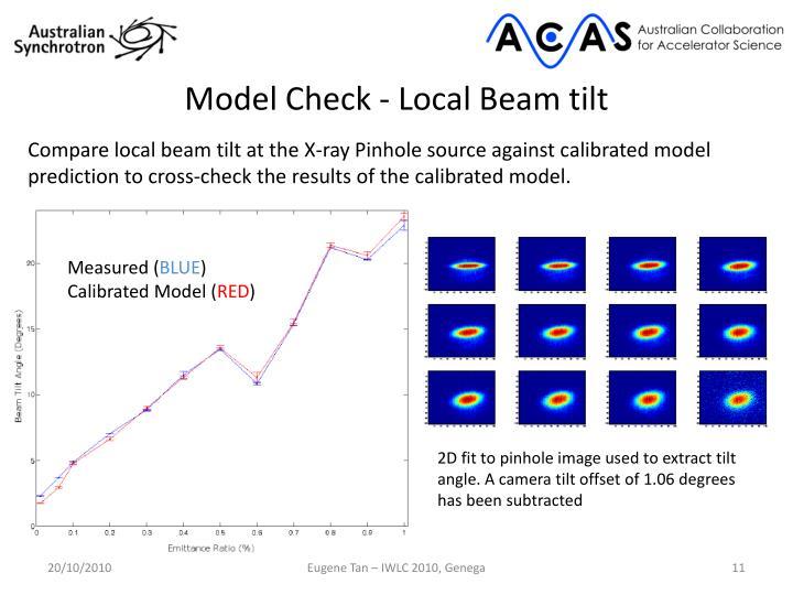 Model Check - Local Beam tilt