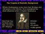 the tragedy of macbeth background