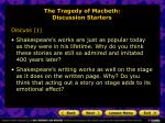 the tragedy of macbeth discussion starters