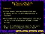 the tragedy of macbeth discussion starters1