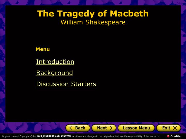 the tragedy of macbeth william shakespeare n.