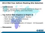 2014 mid year adcom meeting site selection