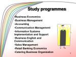 study programmes