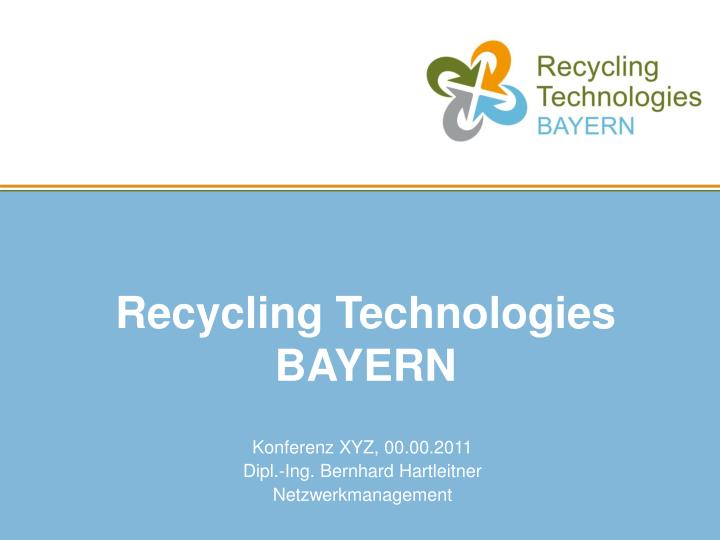 recycling technologies bayern n.