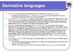 derivative languages