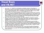 visual basic and vb net
