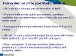 final evaluation of the lead market initiative