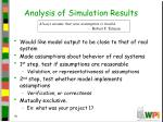 analysis of simulation results