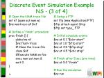 discrete event simulation example ns 3 of 4