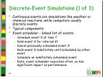 discrete event simulations 1 of 3