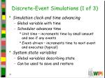 discrete event simulations 1 of 31