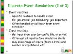 discrete event simulations 2 of 3