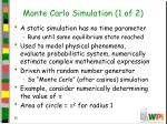 monte carlo simulation 1 of 2