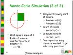 monte carlo simulation 2 of 2