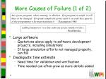 more causes of failure 1 of 2