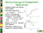 moving average of independent replications