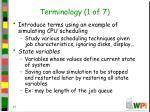terminology 1 of 7