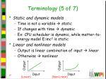 terminology 5 of 7