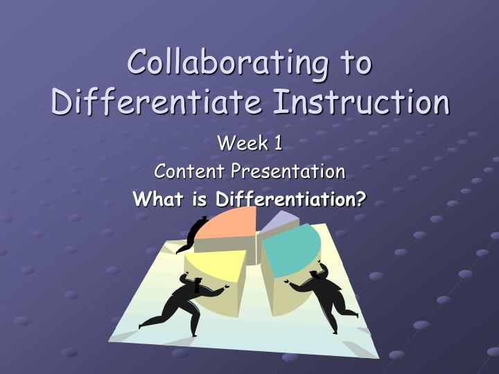 collaborating to differentiate instruction n.