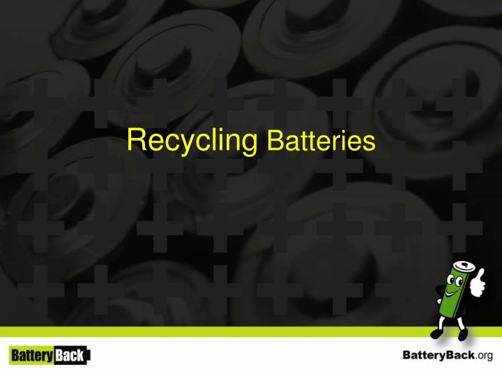 recycling batteries n.