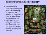 biotic factor biodiversity
