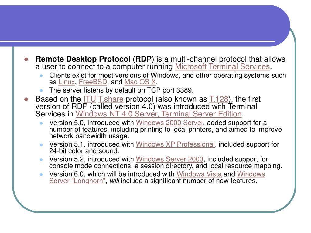 PPT - Remote Desktop Protocol PowerPoint Presentation - ID
