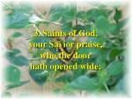 see how great a flame aspires verse 3