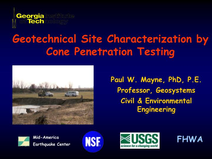 geotechnical site characterization by cone penetration testing n.