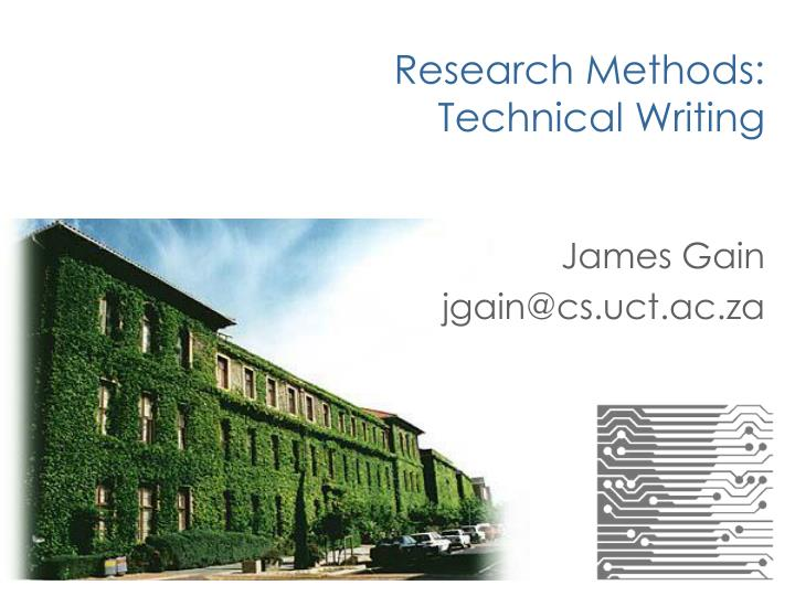 research methods technical writing n.