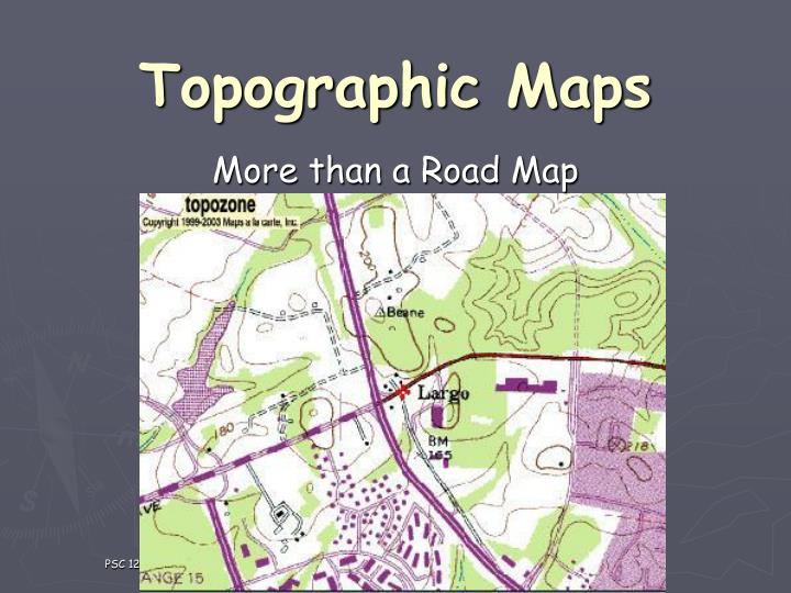 topographic maps n.