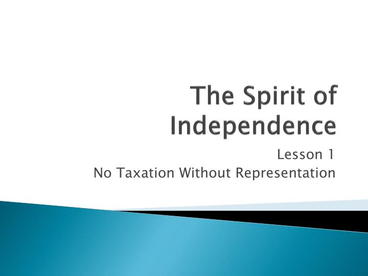 the spirit of independence n.