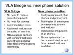 vla bridge vs new phone solution
