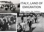 italy land of emigration