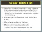 combat related tbi