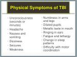 physical symptoms of tbi