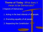 theme of today what does it mean to be democratic1