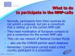 what to do to participate in the nmp calls